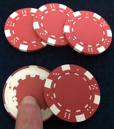 Poker chip shell magic