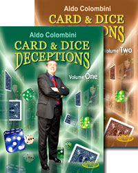 Aldo Colombini's Card & Dice Deceptions #1-2 DVD Set