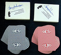 Spade & Archer Red & Blue Card Set (Harry Anderson-Autographed)