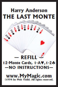 Last Monte Refill Cards (Harry Anderson)