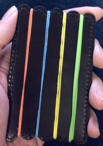 Rubber Band Black Leather Board
