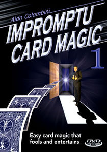 Impromptu Card Magic #1 DVD (Aldo Colombini)