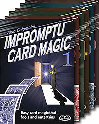 Aldo Colombini's Impromptu Card Magic #1-6 DVD Set