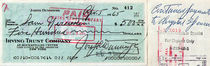 Joseph Dunninger Signed Blue $500 Checks