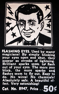 Flashing Eyes Black T-Shirt