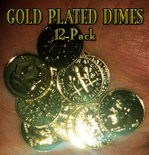 Gold Plated Dimes