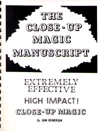 Close-Up Magic Manuscript (John Henderson)
