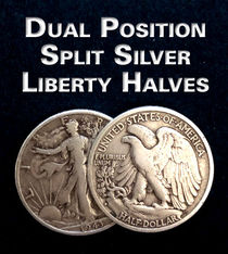 Dual Position Split Silver Liberty Halves