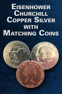 Eisenhower & Churchill Copper Silver