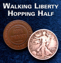 Walking Liberty Silver Hopping Half