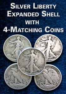 Silver Liberty Expanded Shell With Matching Coins