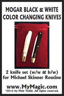 Mogar Black & White Color Changing Knives