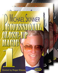 Michael Skinner's Professional Close-Up Magic #1-4 DVD Set