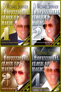 Michael Skinner's Professional Close-Up Magic #1-4 Video Series