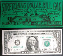 Stretching Dollar Bill Gag
