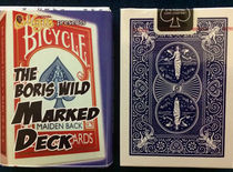 Marked Bicycle Maiden Back Blue Deck Set (Boris Wild)